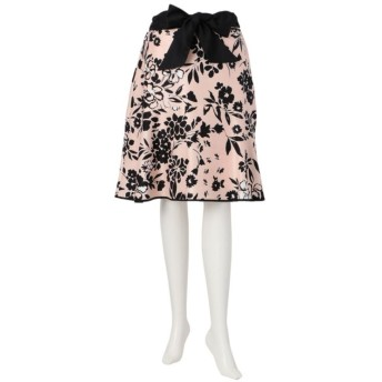SALE【トゥー ビー シック(TO BE CHIC)】 【L】【ウォッシャブル】フラワーシャンタンプリントスカート ピンク