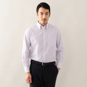 SALE【ポール・スチュアート メン(Paul Stuart MEN)】 シアサッカーボタンダウンシャツ パープル系