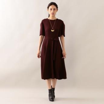 SALE【エポカ(EPOCA)】 ハイツイストクロス ドレス ワイン