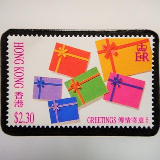 香港 切手ブローチ 4795