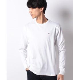 トミーヒルフィガー ベーシックロングスリーブTシャツ メンズ ホワイト XL 【TOMMY HILFIGER】