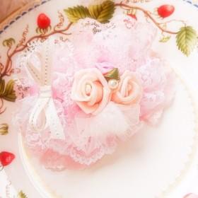 フォーマル ️レースリボンバレッタ ピンク リボン プレゼント