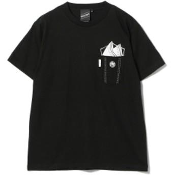 【SPECIAL PRICE】BEAMS T / Pocket Illustration Tee メンズ Tシャツ BLACK S