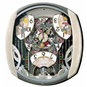 SEIKO セイコークロックディズニーからくり電波掛け時計 FW563A メロディー付 アナログ ミッキー ミニーマウス ピンクマーブル