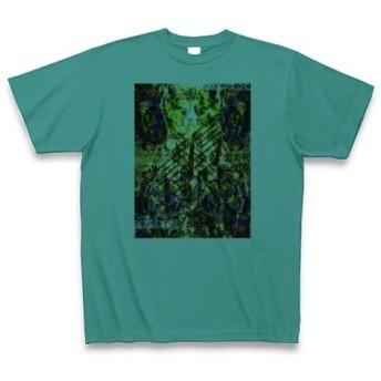 有効的異常症候群風雷◆アート◆ロゴ◆ヘビーウェイト◆半袖◆Tシャツ◆ピーコックグリーン◆各サイズ選択可
