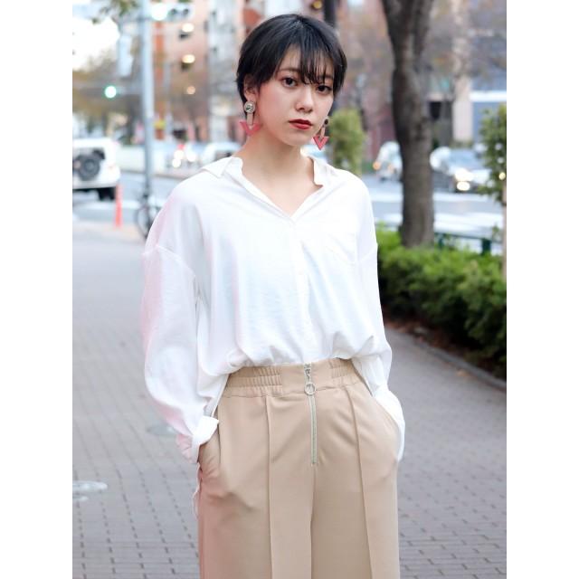 シャツ - MURUA アシメバックベルトシャツ