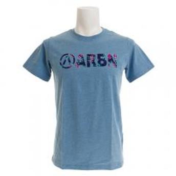 エアボーン(ARBN) BOTANICAL LOGO 半袖Tシャツ AB99AW1180 BLU(Men's)