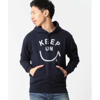 【SPECIAL PRICE】BEAMS T / Keep On フーディ メンズ パーカー NAVY S