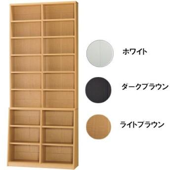 1cmピッチ壁面書棚 90幅 BM-900 ホワイト 幅90x奥行30x高さ215cm 本棚・書棚・AVストッカー