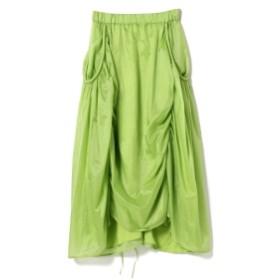 steventai / パラシュート スカート レディース マキシ・ロング丈スカート GREEN S