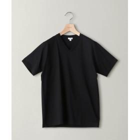 ビューティ&ユース ユナイテッドアローズ BY ハイゲージコットン Vネック Tシャツ メンズ BLACK S 【BEAUTY & YOUTH UNITED ARROWS】
