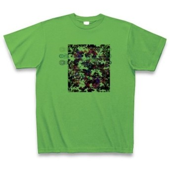 有効的症候群黒白◆アート◆ロゴ◆ヘビーウェイト◆半袖◆Tシャツ◆ブライトグリーン◆各サイズ選択可