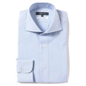 B:MING by BEAMS / COOLMAX(R) カッタウェイカラー ドレスシャツ メンズ ドレスシャツ SAX STRIPE XL