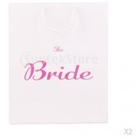 ハンドル白を持つ大規模な花嫁の結婚式ヘンパーティーの紙のギフト好意バッグ