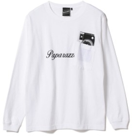 【SPECIAL PRICE】BEAMS T / Gimmick Pocket Long Sleeve Tee メンズ Tシャツ WHITE S
