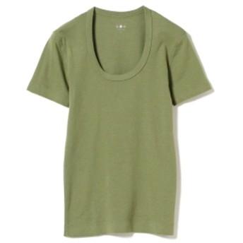 three dots / JESSICA 半袖カットソー 19S レディース Tシャツ SPANISH OLIVE M