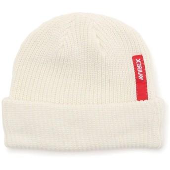 アヴィレックス ロゴワッチキャップ/LOGO WATCH CAP メンズ WHITE F 【AVIREX】