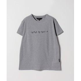 アニエスベー W984 TS ロゴTシャツ レディース グレー 38(M) 【agnes b.】