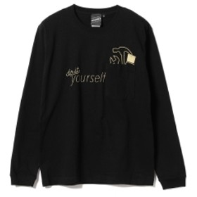 【SPECIAL PRICE】BEAMS T / Gimmick Pocket Long Sleeve Tee メンズ Tシャツ BLACK S