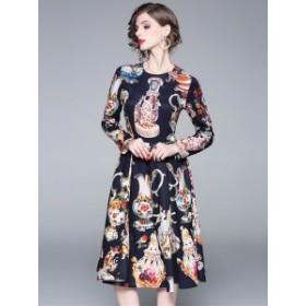 グラマラス ドレス ノーカラー ワンピース アラジンポッド*韓国新作*送料込