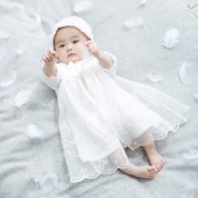 【ベビー】【日本製】新生児サマーセレモニードレス&帽子セット【赤ちゃん ベビー服 セレモニードレス お宮参り 低出生体重児 スモール