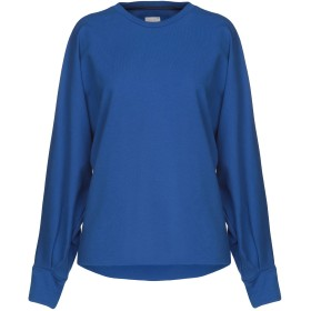 《期間限定セール開催中!》,MERCI レディース スウェットシャツ ブルー S 95% コットン 5% ポリウレタン