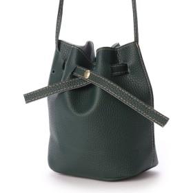 スタイルブロック STYLEBLOCK 巾着型ショルダーバッグ (ダークグリーンA(シボ加工))