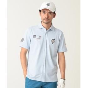 BEAMS GOLF PURPLE LABEL / シャンブレー タラッティ ポロシャツ メンズ ポロシャツ BLUE S