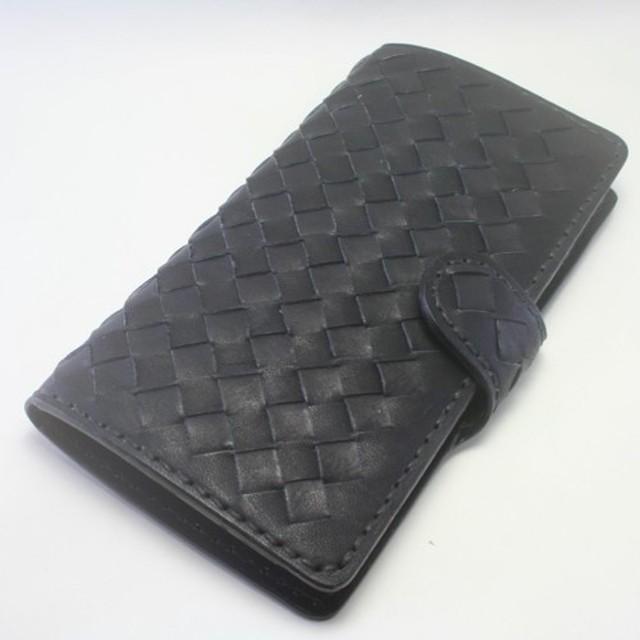 6ee2f5934f ♪市松 チェッカー iPhone8Plus 7 6 6S 手帳型レザーケース ブラック&