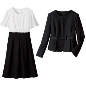 60%OFF【レディース大きいサイズ】 フォーマルアンサンブル(セレモニースーツ) ■カラー:ブラック ■サイズ:19ABR