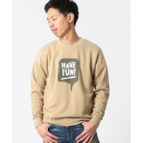 【SPECIAL PRICE】BEAMS T / HAVE FUN メンズ スウェット BEIGE S