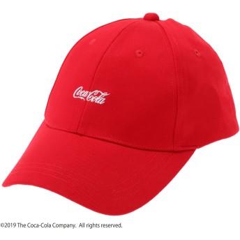 アースミュージックアンドエコロジー earth music & ecology Coca-Cola/earthロゴキャップ (Red)