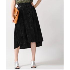 WEGO クラッシュベロアミディスカート(ブラック)【返品不可商品】