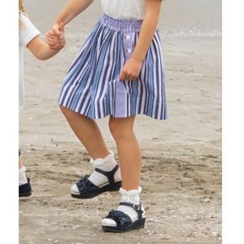 組曲 キッズ(KUMIKYOKU KIDS)/【110~140cm】ブロッキングストライプ スカート