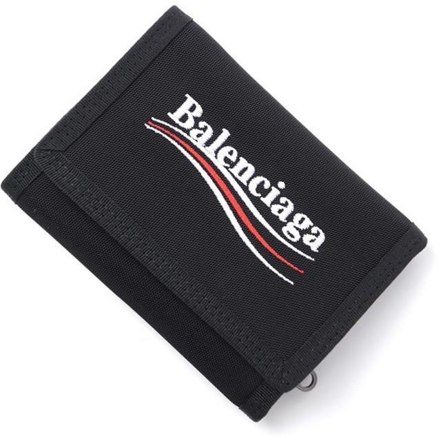 バレンシアガ BALENCIAGA 3つ折り 財布 小銭入れ付き EXPLORER SQUARE COIN WALLET エクスプローラー スクエア コイン ウォレット ブラック メンズ