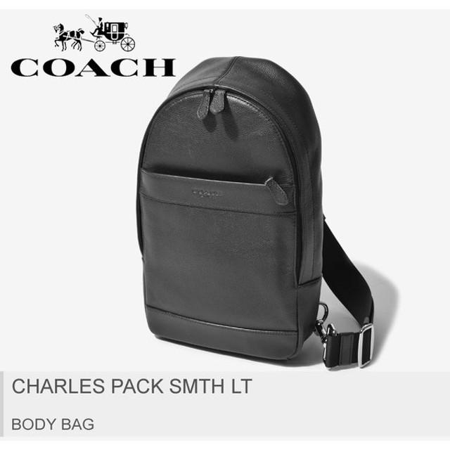 638601b7ca86 COACH コーチ ボディバッグ チャールズ パック スムース レザー F54770 バッグ 鞄 黒 本革