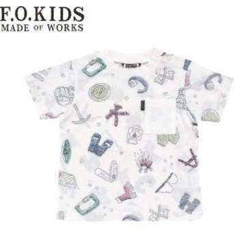 60%OFF セール 【返品・交換不可】 F.O.KIDS エフオーキッズ 子供服 19春 裏プリント総柄Tシャツ foR207049