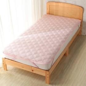 敷パッドひんやりフィット&綿パイル ピンク シングル ホームコーディコールド シングル 敷きパッド