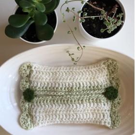 かぎ針編みのティッシュケース