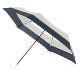 w.p.c / ボーダーミニ折りたたみ傘 レディース 折りたたみ傘 NAVY ONE SIZE