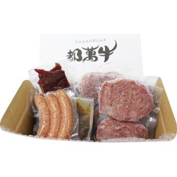 【全4種】都萬牛加工品セット(ハンバーグ、ソーセージほか)【B109】