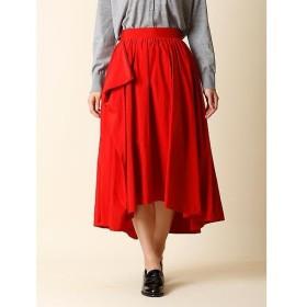 INED L / イネド(エルサイズ) 《大きいサイズ》アシンメトリーフレアスカート