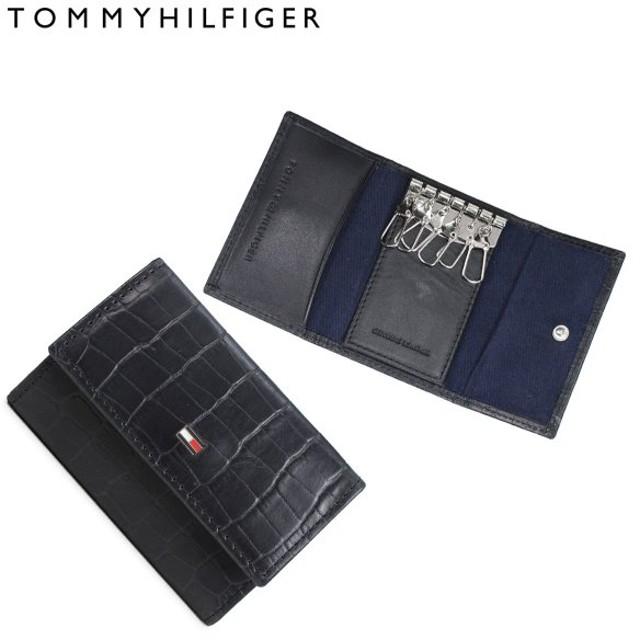 7d203847f8eb トミーヒルフィガー TOMMY HILFIGER キーケース キーホルダー メンズ レザー KEYCASE ブラック 31TL170003-001
