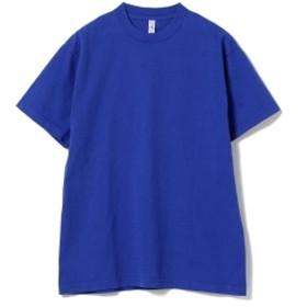 <MEN>LOS ANGELES APPAREL / クルーネック Tシャツ メンズ Tシャツ BLUE M