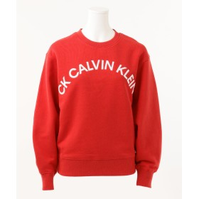 【オンワード】 CK CALVIN KLEIN WOMEN(CK カルバン・クライン ウィメン) 【2019SS インポート企画】クラシックコットンフレンチ ロゴ入りスウェット レッド S レディース 【送料無料】