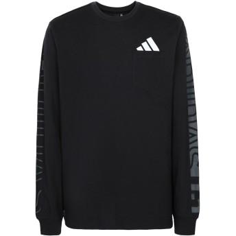 《期間限定セール開催中!》ADIDAS メンズ T シャツ ブラック L コットン 100% The Pack LS Tee