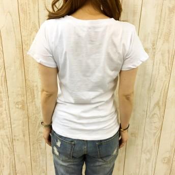 Tシャツ - SHEENA ベーシックVネックTシャツ 【 春 夏 】 Tシャツ トップス Vネック