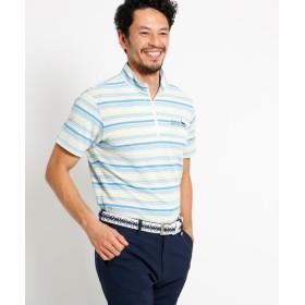 adabat(Men)(アダバット(メンズ)) 【吸水速乾】【UVカット】マルチボーダー半袖ポロシャツ メンズ