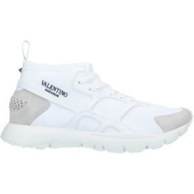 《セール開催中》VALENTINO GARAVANI メンズ スニーカー&テニスシューズ(ローカット) ホワイト 39 紡績繊維
