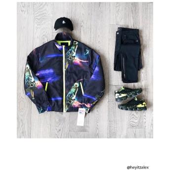 ジャケット・ブルゾン - FOREVER 21【MEN】 【NASAスペースパファージャケット】アウター ジャケット 黒 ブラック XS S M ストリート f21 長袖